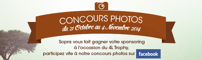 Concours Photo à l'occasion du 4L Trophy